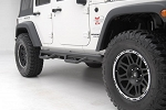NFAB Wheel to Wheel Nerf Step Jeep Wrangler JKU 4 Door Black Textured