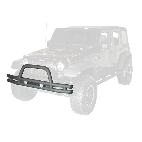 Double Tube Bumper Front 3 Inch 2007 To 2018 Jeep Wrangler JK<br>Get FREE X-Clamp/LED kit (15210.91) with Select Tube Bumpers