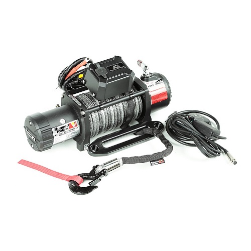 Rugged Ridge Nautic Winch 9500 LBS Synthetic Rope Waterproof<br>Get FREE recovery kit (15104.25) with Nautic winch