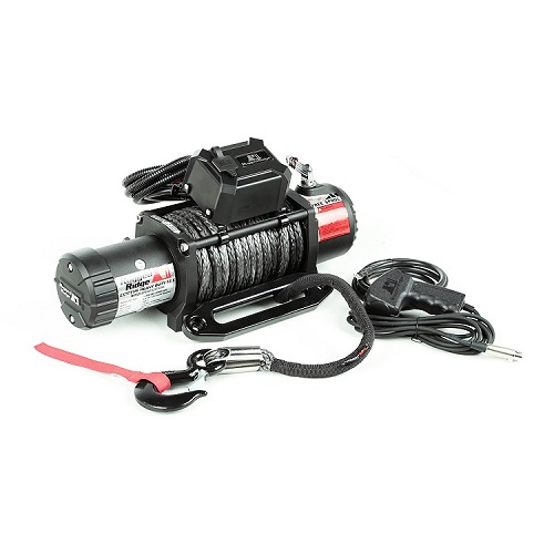 Rugged Ridge Nautic Winch 12500 LBS Synthetic Rope Waterproof<br>Get FREE recovery kit (15104.25) with Nautic winch