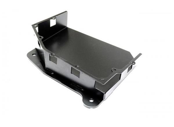 Jeep JK 3.8L Transmission Skid Plate 07-11 Wrangler JK Auto Black Powdercoat EVO Manufacturing