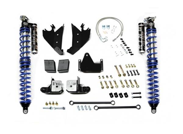 Jeep JK Coilover Kit Rear Bolt On with C/Os 07-18 Wrangler JK Black with Compression Adjusters EVO Mfg