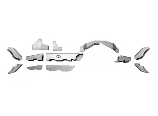 Jeep JK Front Axle Truss Dana 30 07-18 Wrangler JK w/ C2 Gussets ProTek EVO Manufacturing