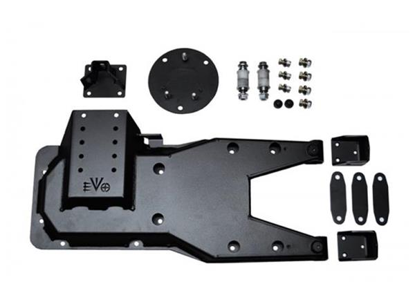 Jeep JK Pro Series Hinged Gate Carrier 07-18 Wrangler JK Black EVO Manufacturing