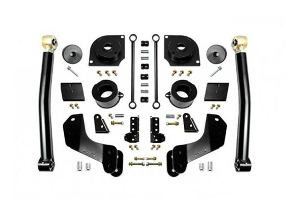 Jeep JL 2.5 Inch 18-Present Wrangler JL Overland Boost Stage 2 with Shock Extensions EVO Manufacturing
