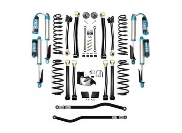 Jeep JL 3.5 Inch Lift Kit 18-Pres Wrangler JL Enforcer Lift Stage 4 Plus with EVO SPEC King 2.5 Shocks EVO Mfg