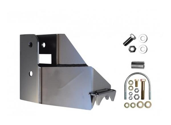 Jeep JL Rear Raised Trackbar Bracket 18-Present Wrangler JL Black EVO Manufacturing