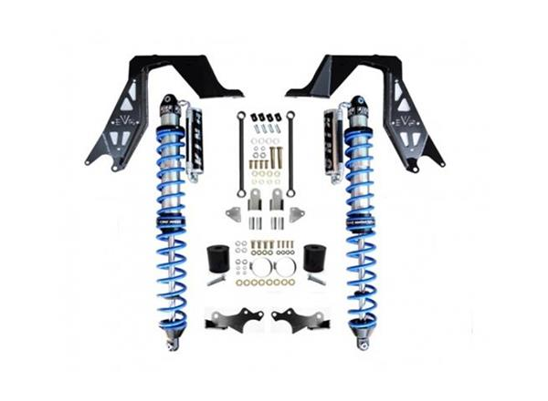 Jeep JL NV2514 Front Bolt-On Coilover Kit 18-Present Wrangler JL Black EVO Manufacturing