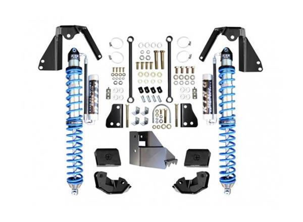 Jeep JL NV2514 Rear Bolt-on Coilover Kit 18-Pres Wrangler JL 2/4 Door w/ Comp Adjuster Black EVO Manufacturing