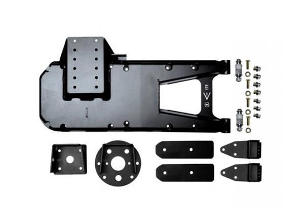 Jeep JL HD Hinge Tire Carrier 18-Present Wrangler JL Black Powdercoat EVO Manufacturing