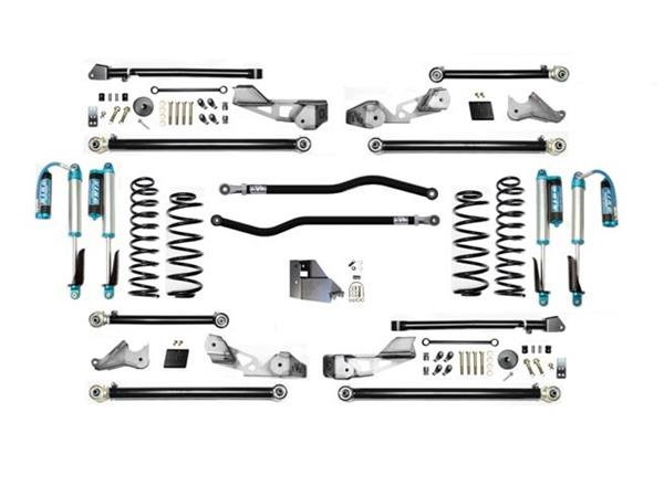 Jeep Wrangler JLU 4.5 Inch JLU High Clearance Plus Long Arm with EVO SPEC King 2.5 Shocks EVO Mfg