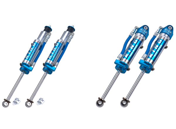 JEEP JK Spec 2.5 Reservoir 6.0 Inch and Up Lift Rear Bolt-in Shock with Comp Adjuster 07-18 Wrangler JK Pair EVO Manufacturing