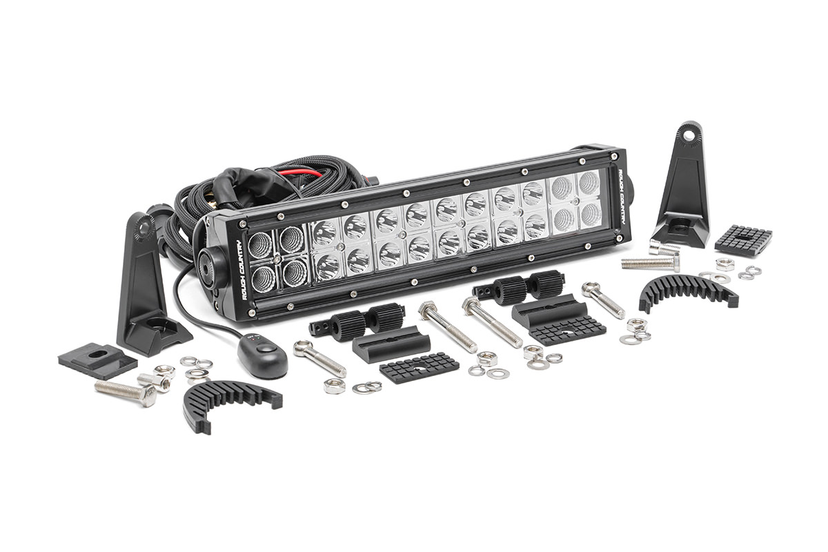 12-inch Chrome Series Dual Row CREE LED Light Bar<br>Fits: Anywhere You Can Mount It