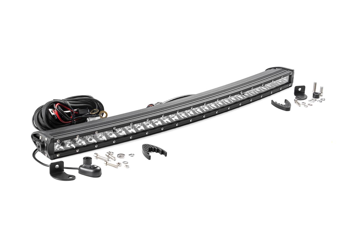 30-inch Chrome Series Single Row Curved CREE LED Light Bar<br>Fits: Anywhere You Can Mount It