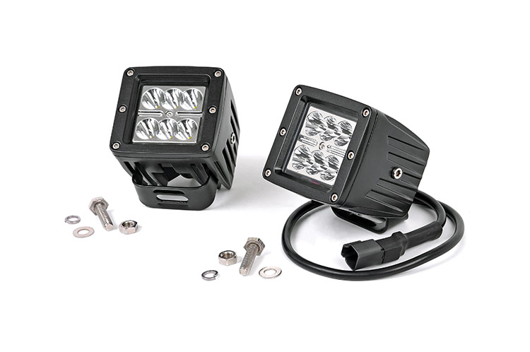 2-inch Chrome Series CREE LED Square Lights (Pair)<br>Fits: Anywhere You Can Mount It