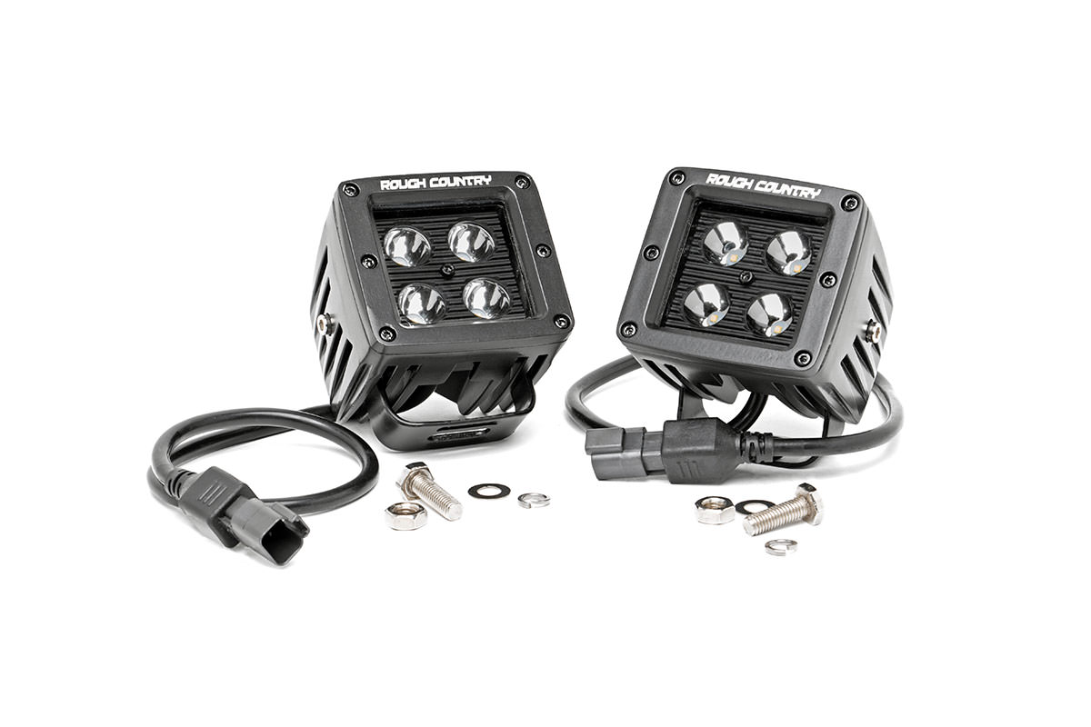 2-inch Black Series CREE LED Square Lights (Pair)<br>Fits: Anywhere You Can Mount It