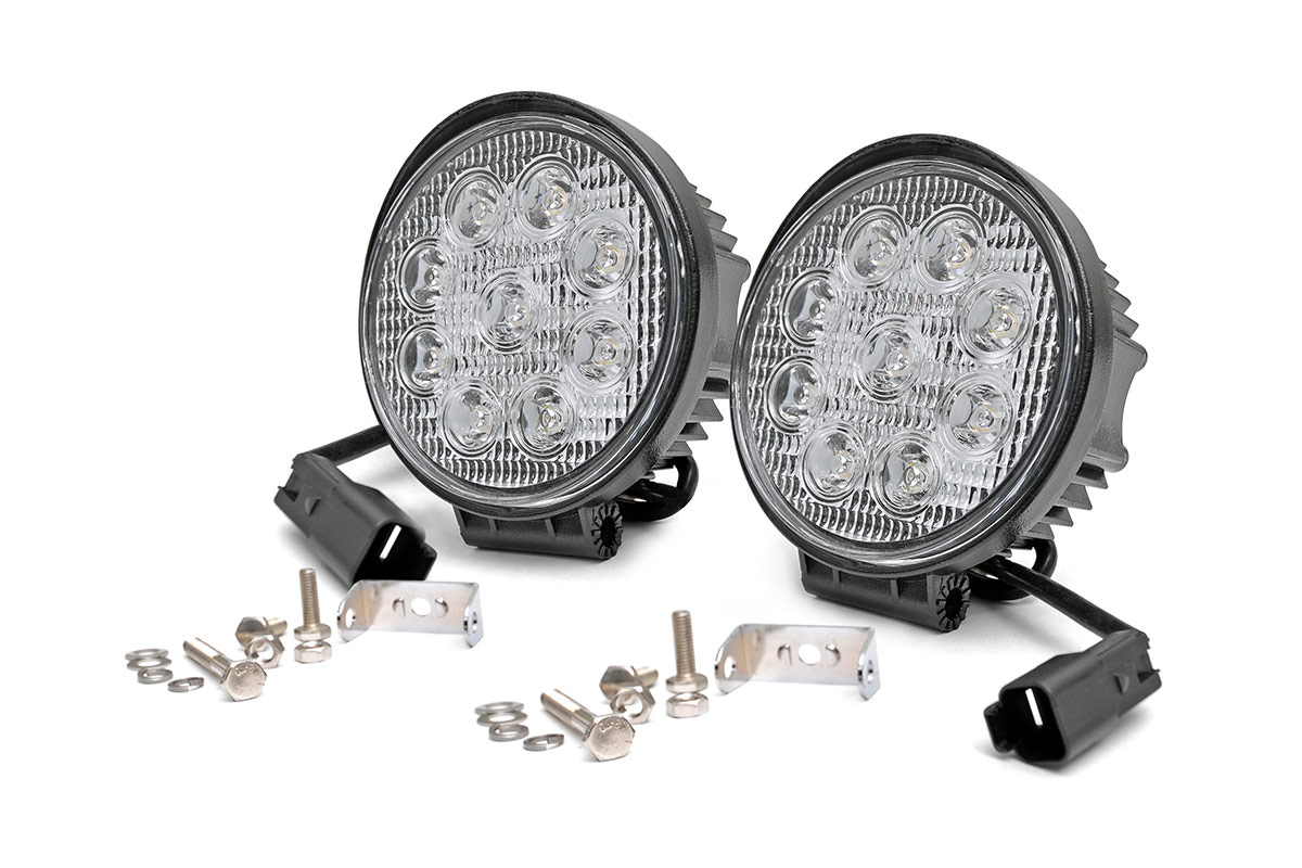 4-inch LED Round Lights (Pair)<br>Fits: Anywhere You Can Mount It
