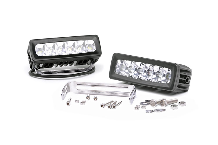 6-inch Chrome Series Adjustable Base Mount CREE LED Light Bars (Pair)<br>Fits: Anywhere You Can Mount It