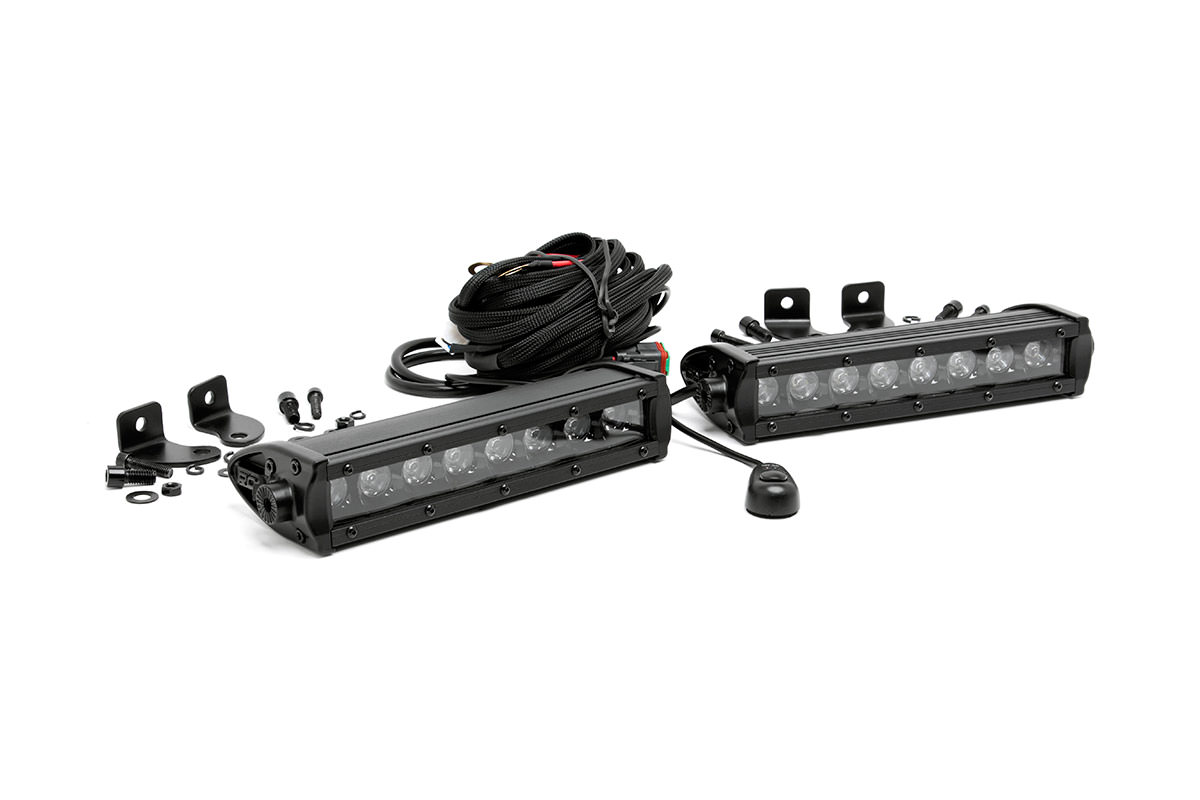 8-inch Black Series CREE LED Single Row Light Bars (Pair)<br>Fits: Anywhere You Can Mount It