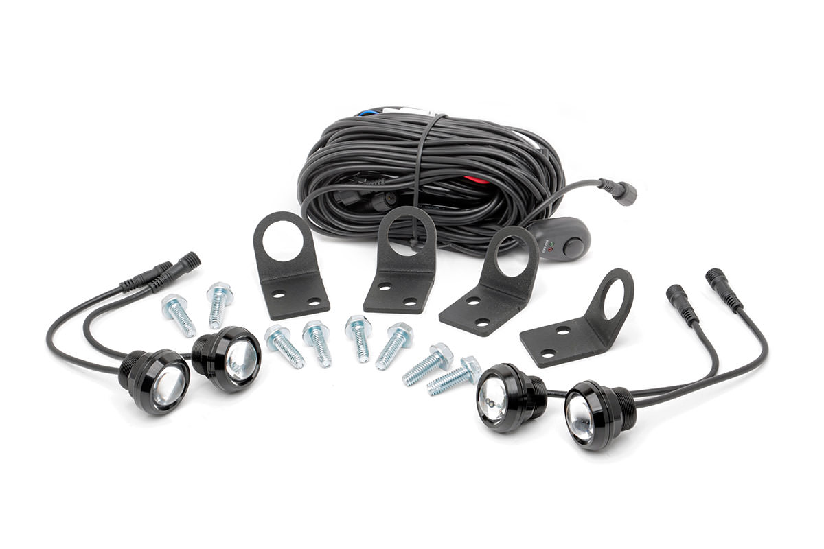 Universal LED Rock Light Kit w/ Mounts (Set of 4)<br>Fits: Anywhere You Can Mount It