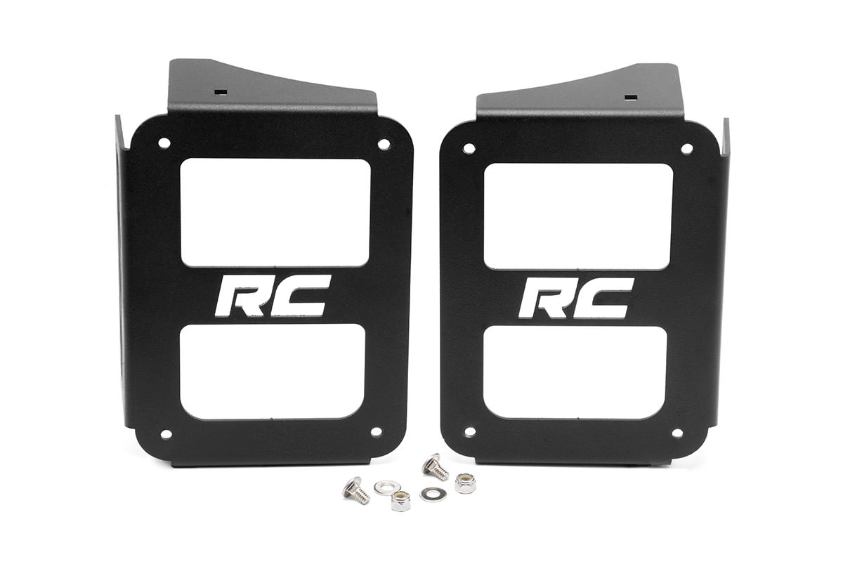 Wrangler JK Tail Light Covers - Open Design (Pair)<br>Fits: Jeep: 07-16 Wrangler JK 4WD 07-16 Wrangler Unlimited JK 4WD/2WD