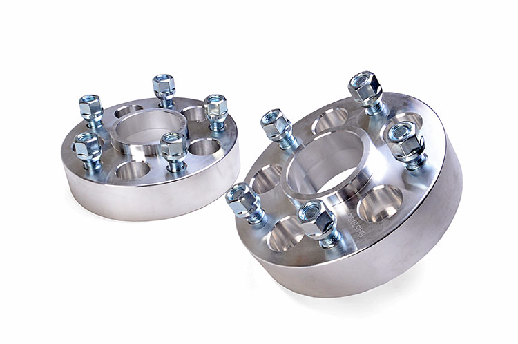 1.5-inch Wheel Spacer Adapter Pair (Converts 5-by-4.5-inch to 5-by-5-inch Bolt Pattern)<br>Fits: Jeep: 84-01 Cherokee XJ 4WD/2WD 86-92 Comanche MJ 4WD/2WD 93-98 Grand Cherokee ZJ 4WD/2WD 97-06 Wrangler TJ 4WD 04-06 Wrangler Unlimited LJ 4WD 87-95 Wrangler