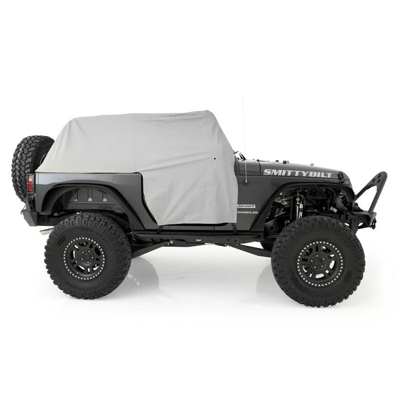 Cab Cover W/Door Flap - Water Resistant - Gray