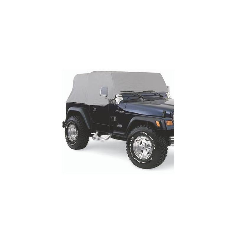 Cab Cover W/O Door Flap - Water Resistant - Gray