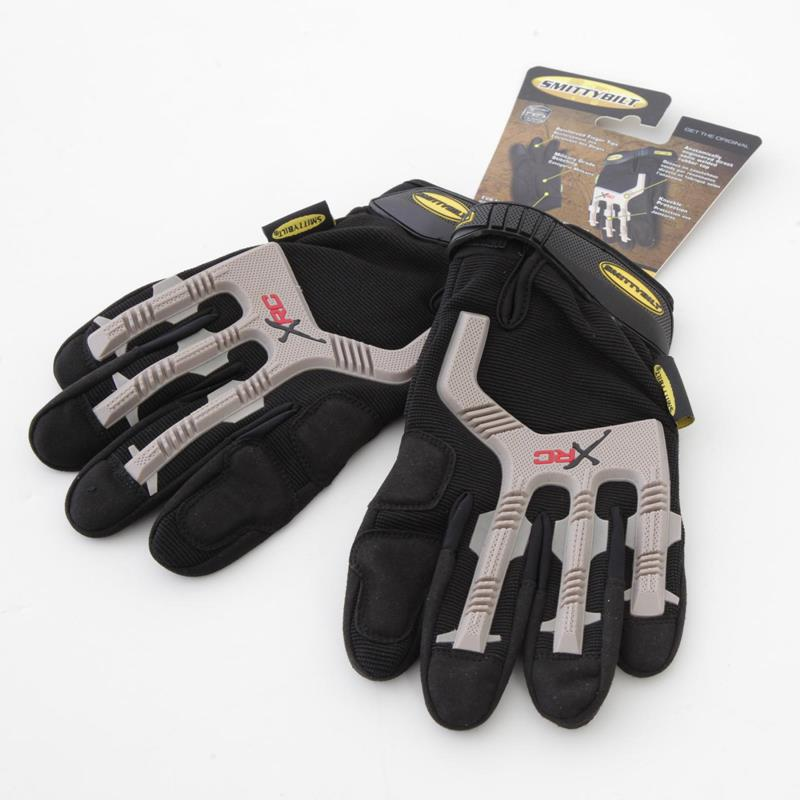 Gloves - Black/ Gray Logo - XLarge