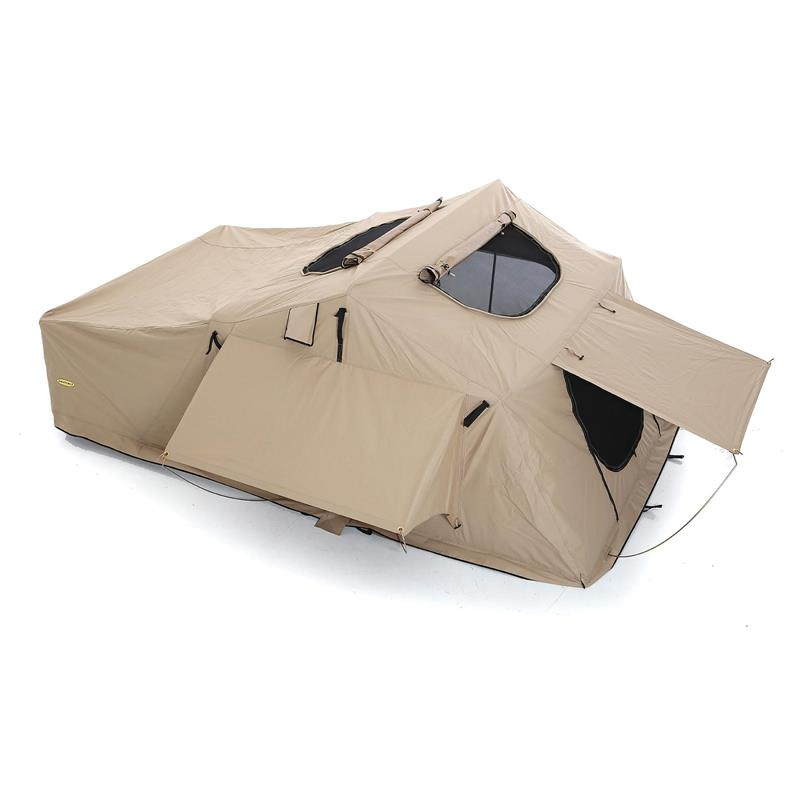 Overlander Tent XL, Folded With Bedding, 12V Socket