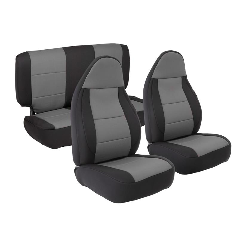 NEOPRENE SEAT COVER SET FRONT/REAR - CHARCOAL 97-02 TJ