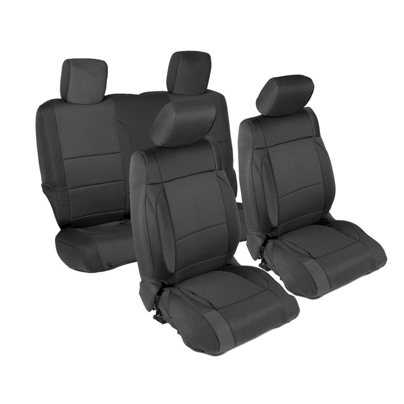 NEOPRENE SEAT COVER SET FRONT/REAR - BLACK 07-12 JK 2DR