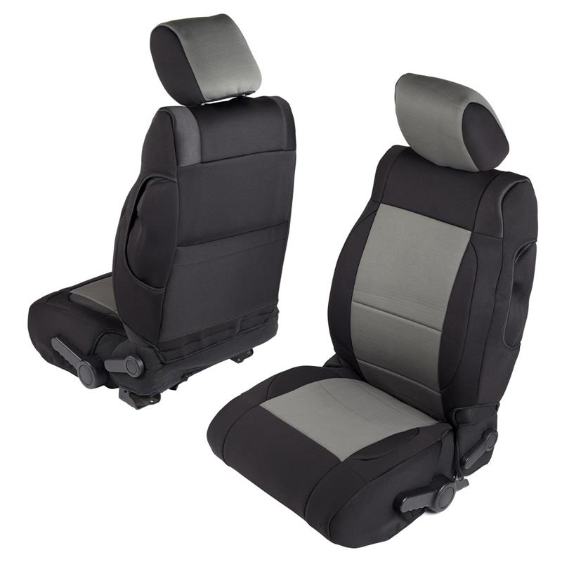 NEOPRENE SEAT COVER SET FRONT/REAR - CHARCOAL 07-12 JK 2DR