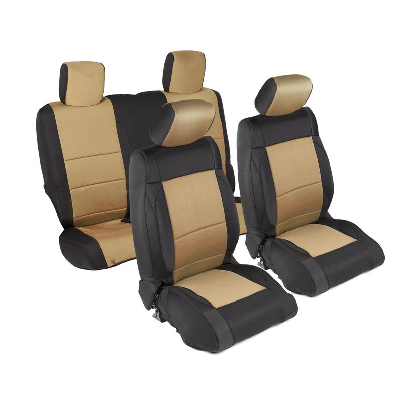 NEOPRENE SEAT COVER SET FRONT/REAR - TAN 07-18 JK 2DR