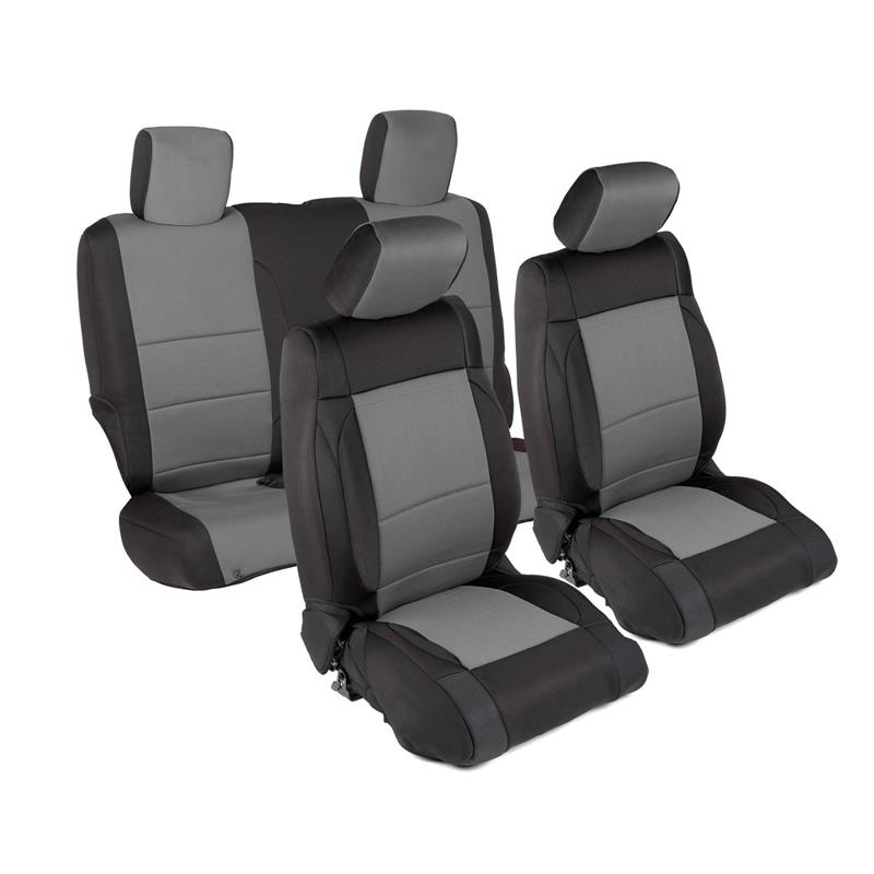 NEOPRENE SEAT COVER SET FRONT/REAR - CHARCOAL 13-18 JK 2DR