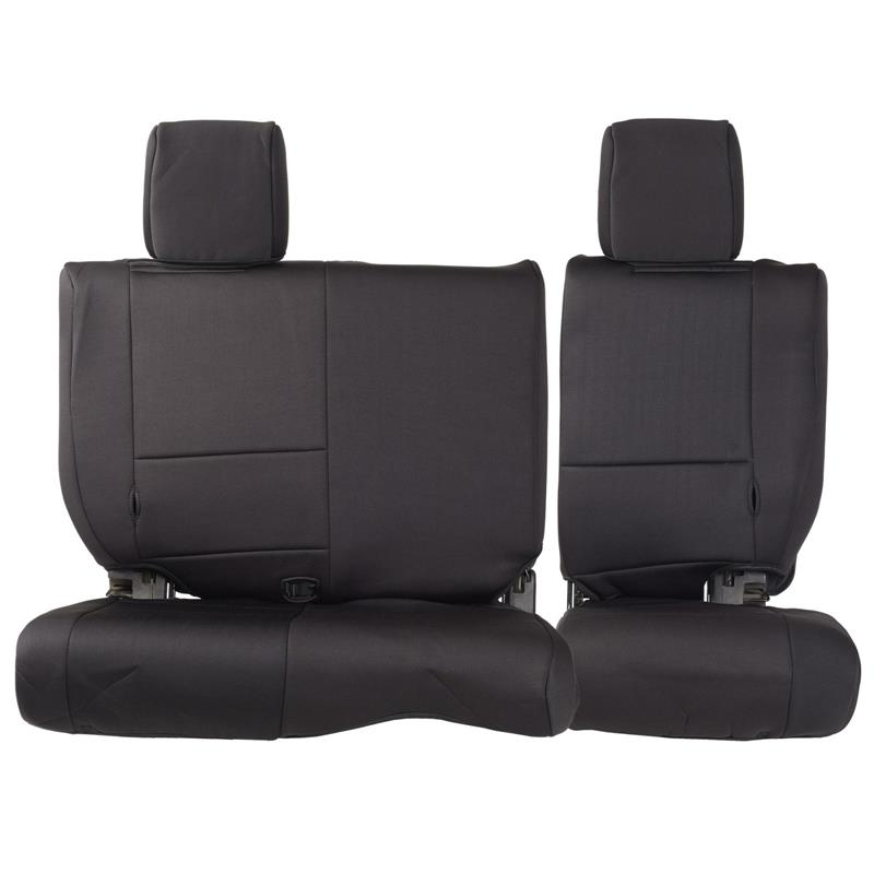 NEOPRENE SEAT COVER SET FRONT/REAR - BLACK 13-15 JK 4DR