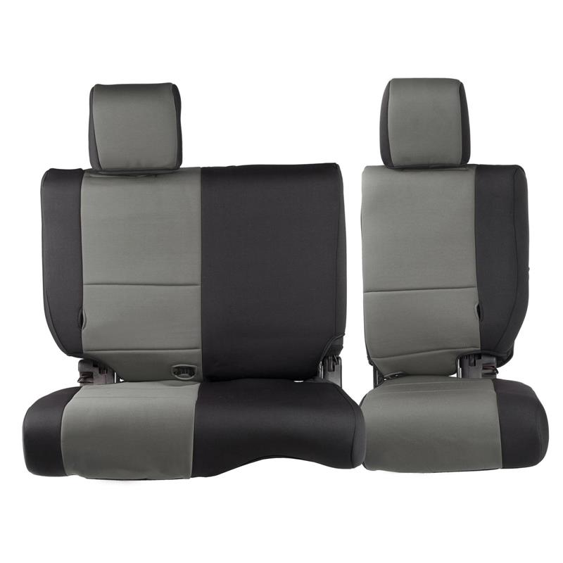 NEOPRENE SEAT COVER SET FRONT/REAR - CHARCOAL 08-12 JK 4DR