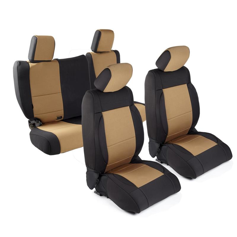 NEOPRENE SEAT COVER SET FRONT/REAR - TAN 08-12 JK 4DR