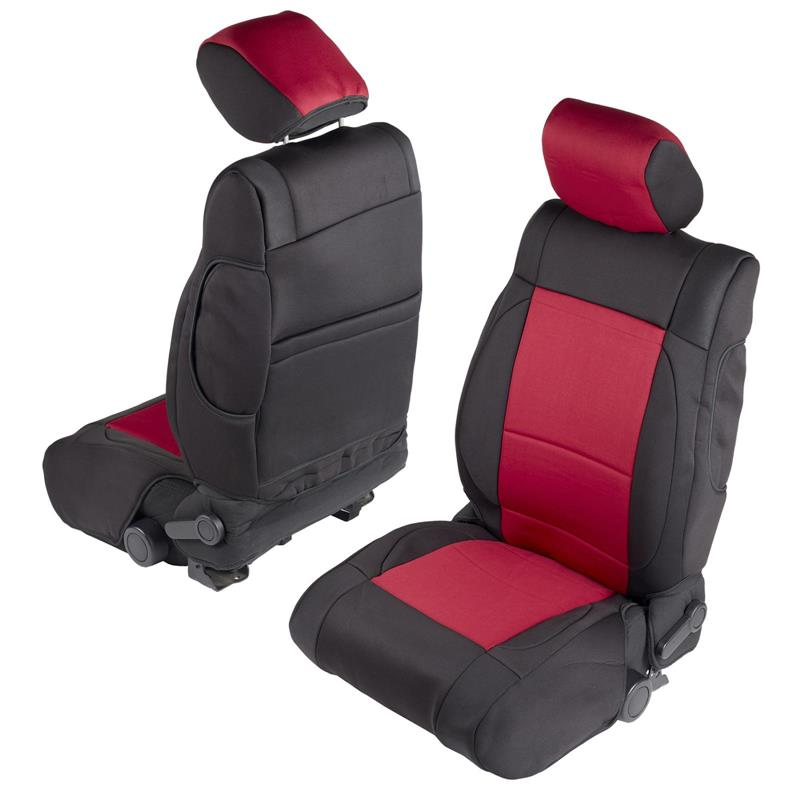 NEOPRENE SEAT COVER SET FRONT/REAR - RED 08-12 JK 4DR
