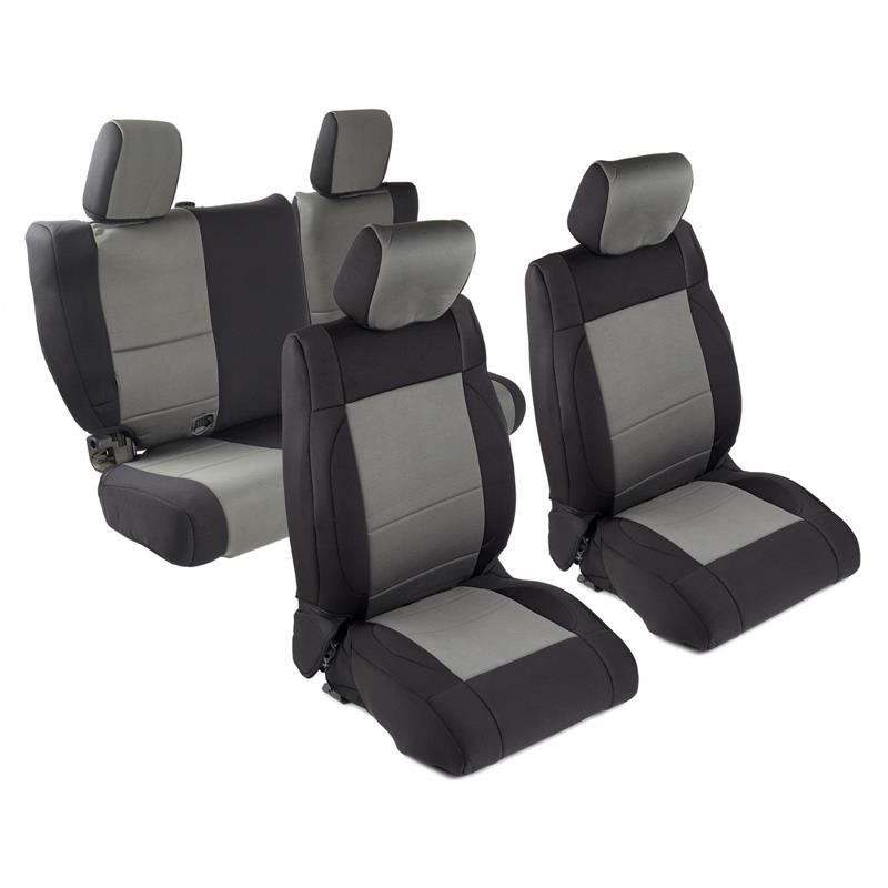 NEOPRENE SEAT COVER SET FRONT/REAR - CHARCOAL 07 JK 4DR