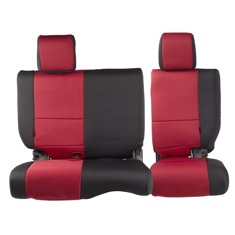NEOPRENE SEAT COVER SET FRONT/REAR - RED 07 JK 4DR