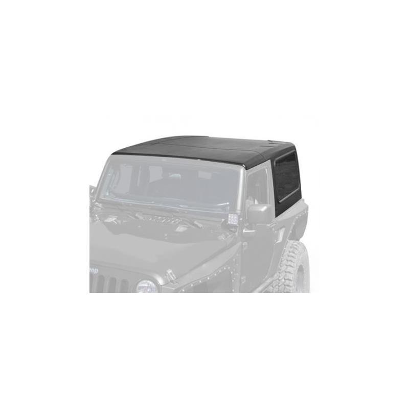 Hard Top - 2 Piece W/O Upper Doors - Textured Black