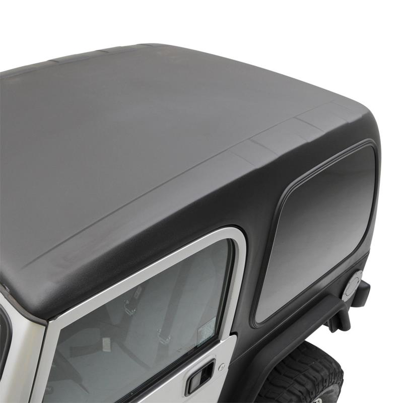 Hard Top - 1 Piece W/O Upper Doors - Textured Black
