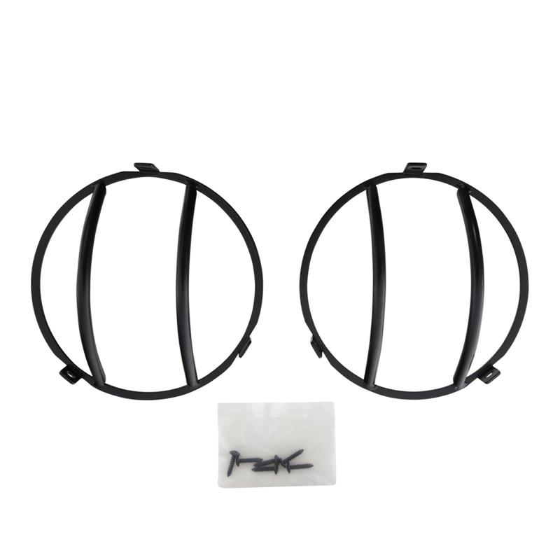 Euro Head Light Guards - Black - 2 Piece