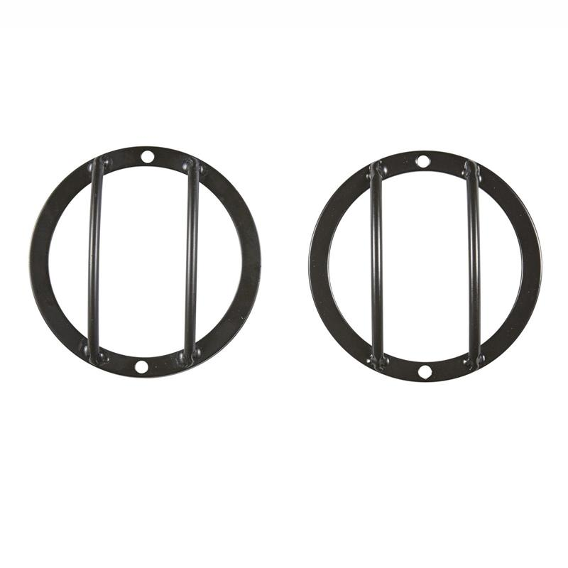 Euro Side Turn Signal Guards - Black - 2 Piece