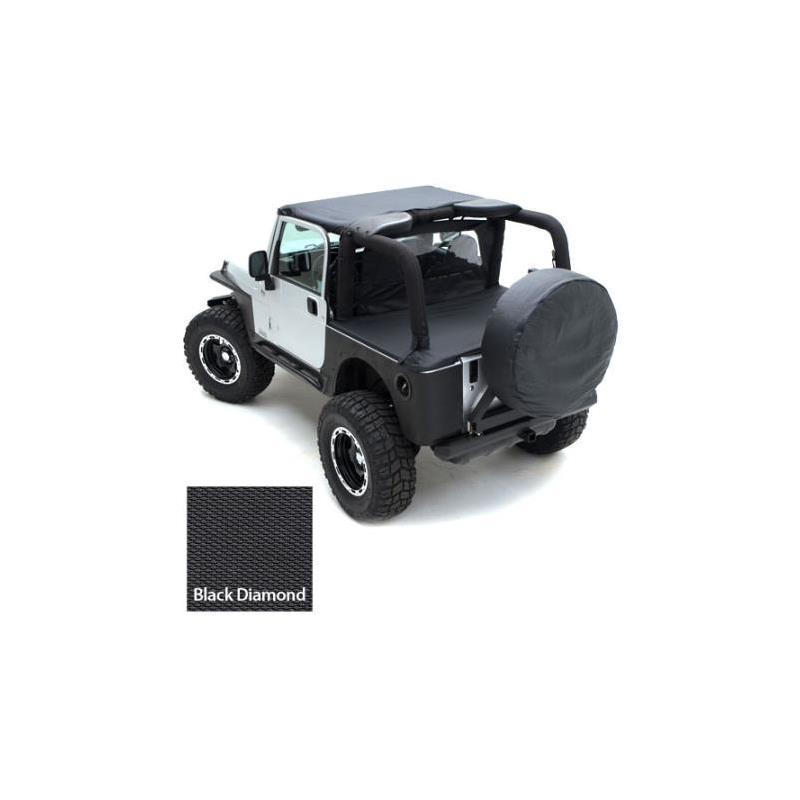Tonneau Cover - For Oem Soft Top W/ Channel Mount - Denim Black