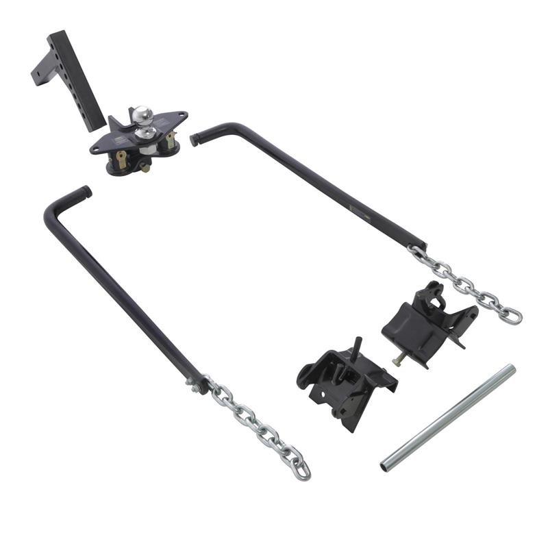 Weight Distributing Hitch With Adjustable Ball Mount And Shank