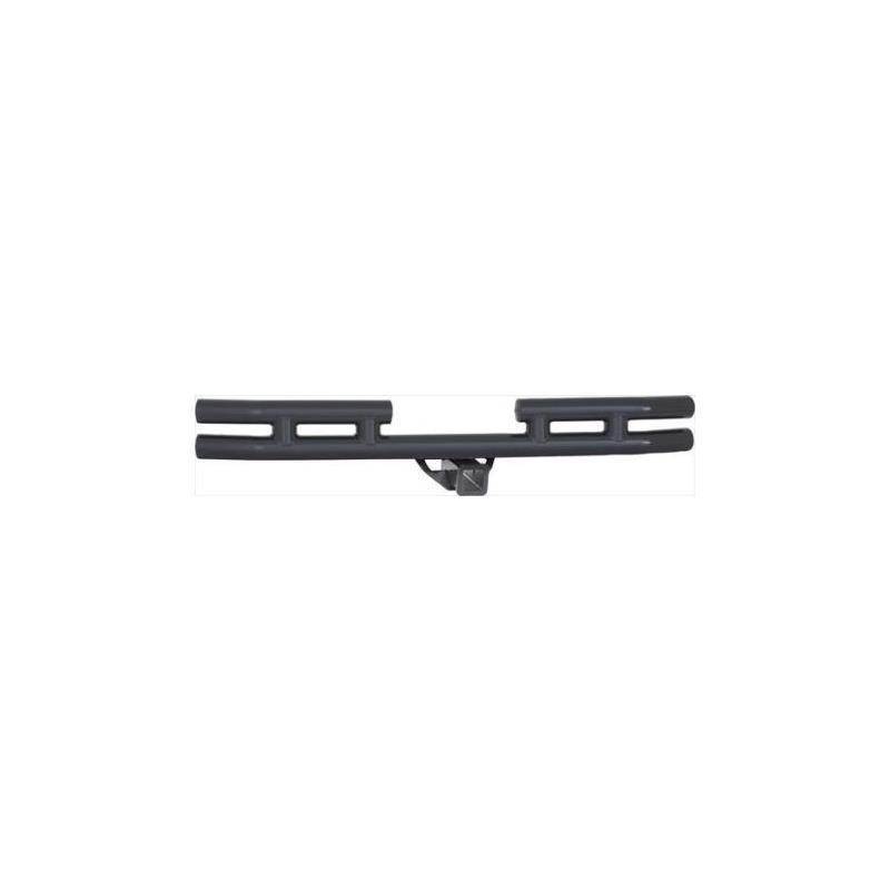 Tubular Bumper - Rear W/Hitch - Black Textured