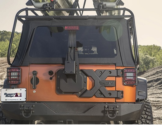 Rugged Ridge Heavy-duty tire carrier kit