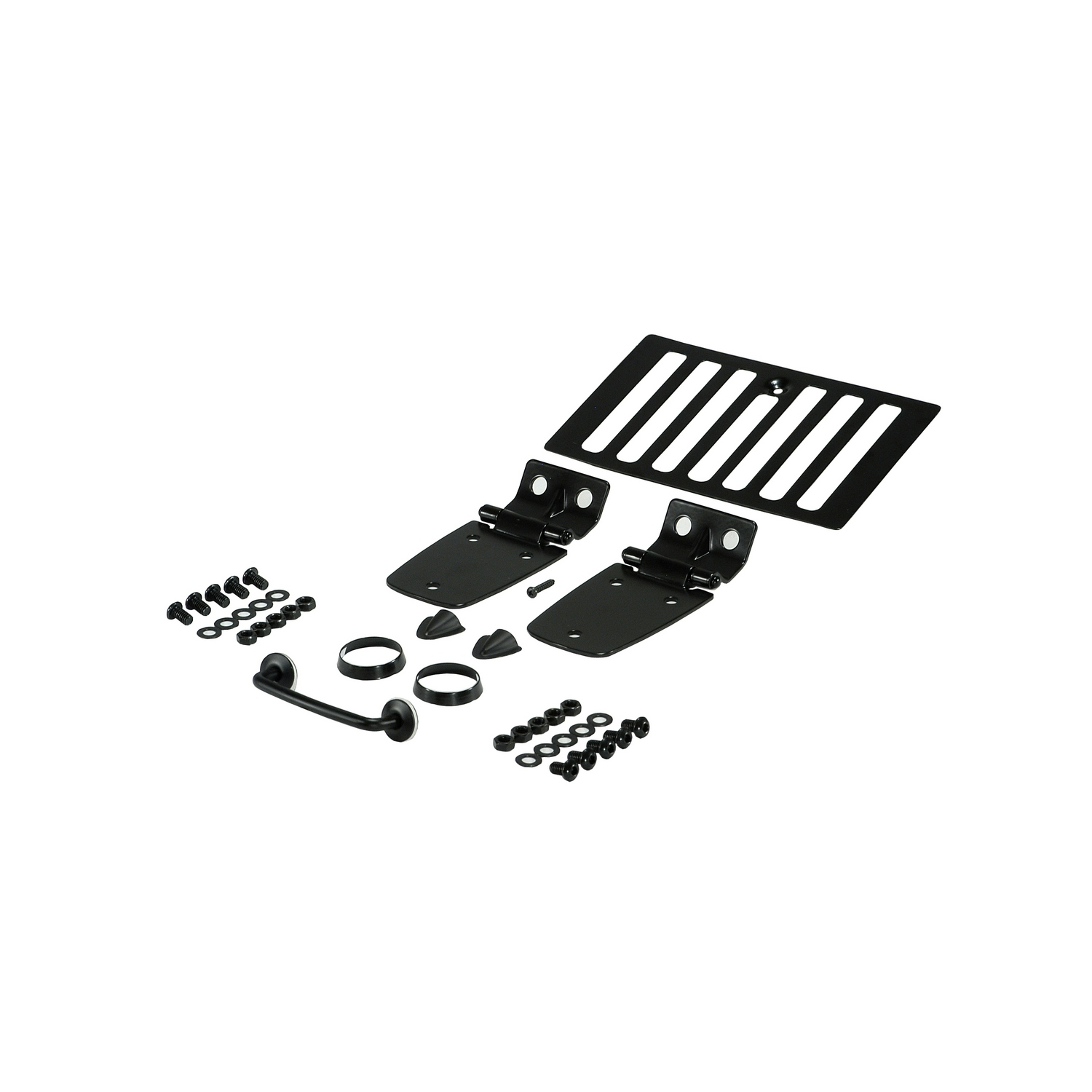 Hood Kit Black 98-06 Jeep Wrangler TJ